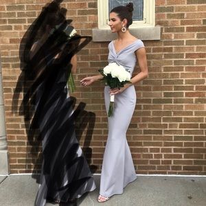 Fitted, Off The Shoulder Gown